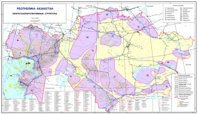 Map of licensed deposits and fields of solid mineral reserves.