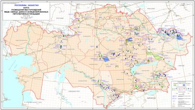 Map of copper, lead, zinc deposits, and licensed promising fields