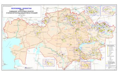 Map of gold ore facilities and licensed promising fields